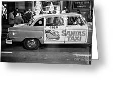 Santa's Taxi Greeting Card