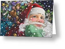 Santa's Toys Greeting Card