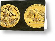 Santee Sioux Tribe Code Talkers Bronze Medal Art Greeting Card