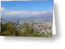 Santiago  Chile Greeting Card