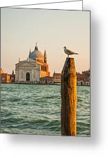 Santissimo Redentore At Sunset Greeting Card