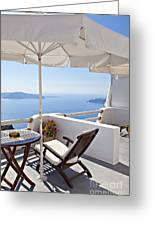 Santorini Balcony  Greeting Card