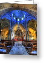 Santorini Cathedral  Greeting Card