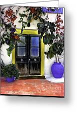 Santorini Doorway 2 Greeting Card
