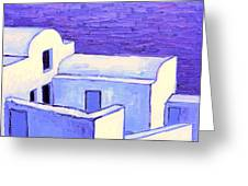 Santorini Houses Greeting Card