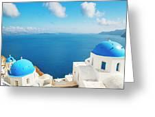 Santorini Island, Greece, Beautiful Greeting Card
