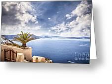Santorini Island Greeting Card