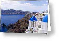 Santorini Panorama 2 Greeting Card