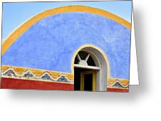 Santorini Window Greeting Card