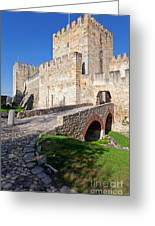 Sao Jorge Castle In Lisbon Greeting Card