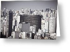 Sao Paulo - Aerial View Greeting Card