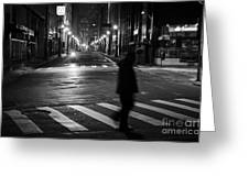 Sao Paulo Street At Night Greeting Card