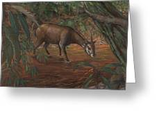 Saola Greeting Card by ACE Coinage painting by Michael Rothman