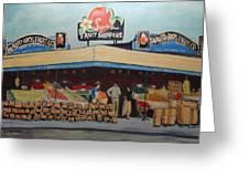 Saprito Bros. Fruit Company Greeting Card