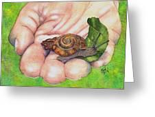 Sarah's Snail Greeting Card