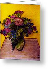 Sarah's Sweet 16 Flowers Greeting Card