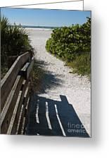 Sarasota Beach Walk Path. Greeting Card