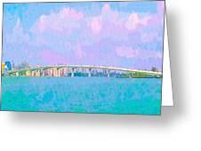 Sarasota Via Ringling Bridge Greeting Card