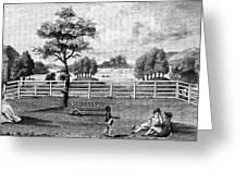 Saratoga, New York, 1794 Greeting Card