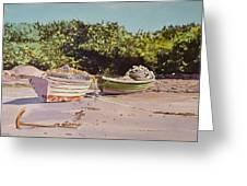 Sardine Dories On The Beach Greeting Card