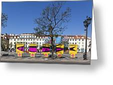 Sardine Outdoor At Pedro Iv Square Best Known As Rossio Square Greeting Card