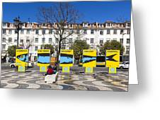 Sardine Outdoors At Rossio Square Greeting Card