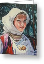 Sardinian Girl Greeting Card