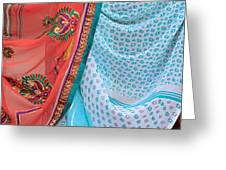 Saree In The Market Greeting Card