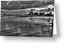 Sarnia Harbour B And W - Canada Greeting Card