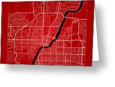 Saskatoon Street Map - Saskatoon Canada Road Map Art On Color Greeting Card