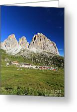 Sassolungo From Sella Pass Greeting Card