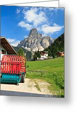 Sassongher Mount From Corvara Greeting Card