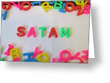 Satan - Magnetic Letters Greeting Card