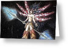 Satari God Of War And Battles Greeting Card