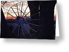 Satellite Sunset Greeting Card