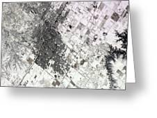 Satellite View Of Amarillo, Texas Greeting Card