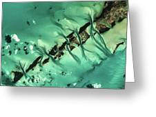 Satellite View Of Cays In North Greeting Card