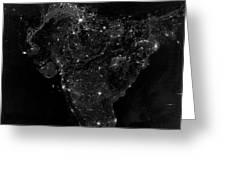 Satellite View Of City, Village Greeting Card
