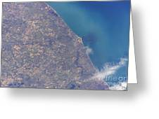 Satellite View Of St. Joseph Area Greeting Card by Stocktrek Images