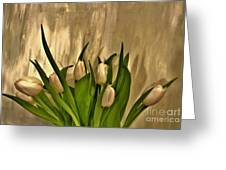 Satin Soft Tulips Greeting Card