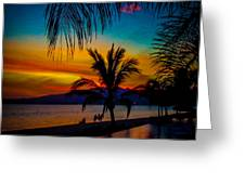 Saturated Mexican Sunset Greeting Card