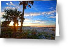 Saturated Sunrise Greeting Card
