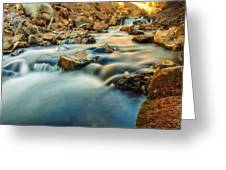 Saturation Of A River Greeting Card
