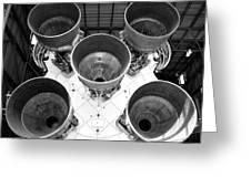 Saturn Five Rocket Work B Greeting Card