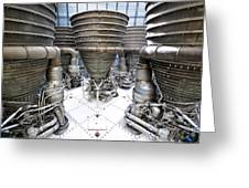 Saturn Five Rockets Greeting Card