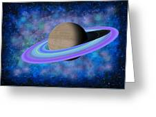 Saturn Journey Greeting Card