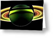 Saturn Shadow Greeting Card