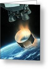 Saturn V Interstage Separation, Artwork Greeting Card