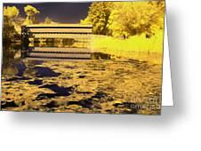 Saucks Bridge - Pond Greeting Card