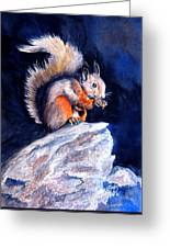 Saucy Squirrel Greeting Card